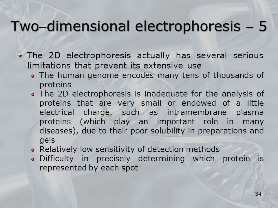 Twodimensional electrophoresis  5
