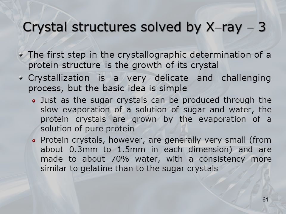Crystal structures solved by Xray  3