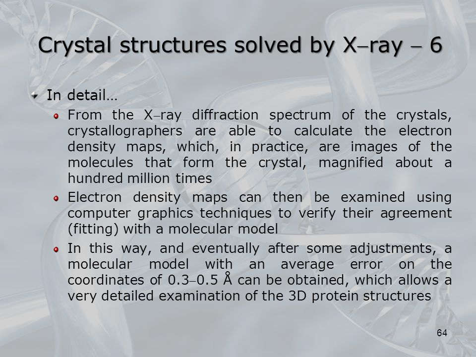 Crystal structures solved by Xray  6