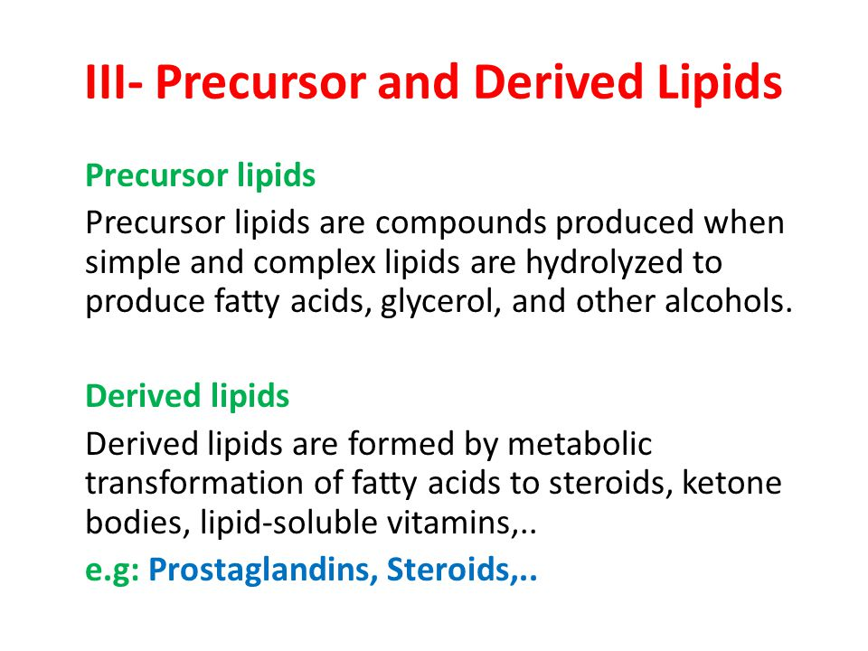 III- Precursor and Derived Lipids