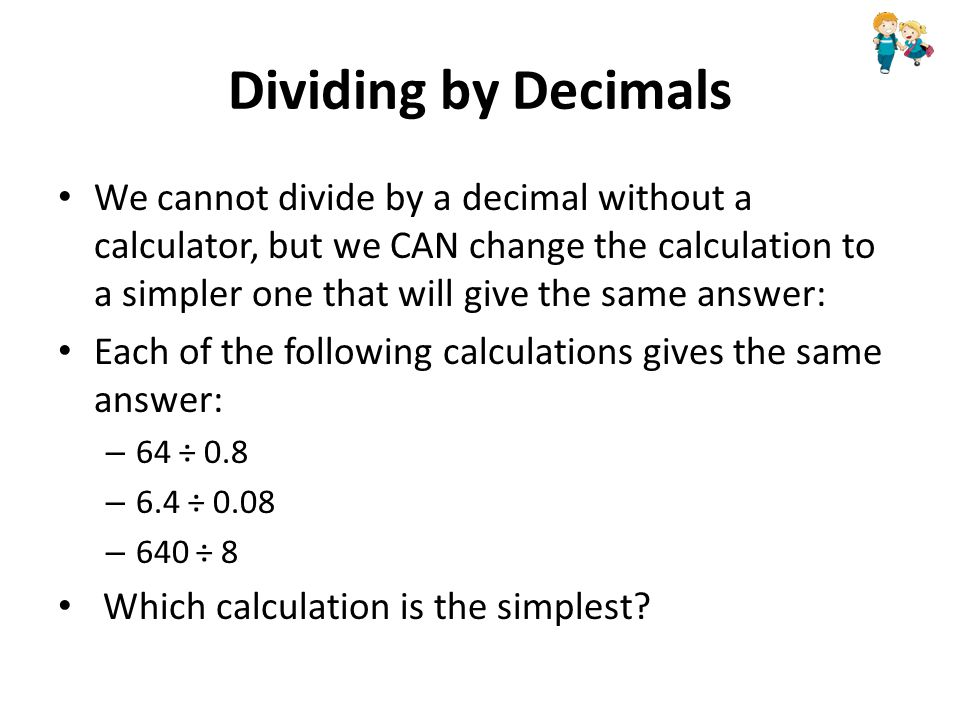 how to show decimal in calculator