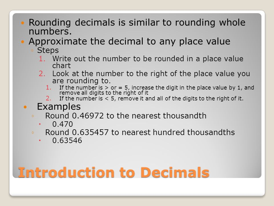 how to write a long decimal to the nearest 1