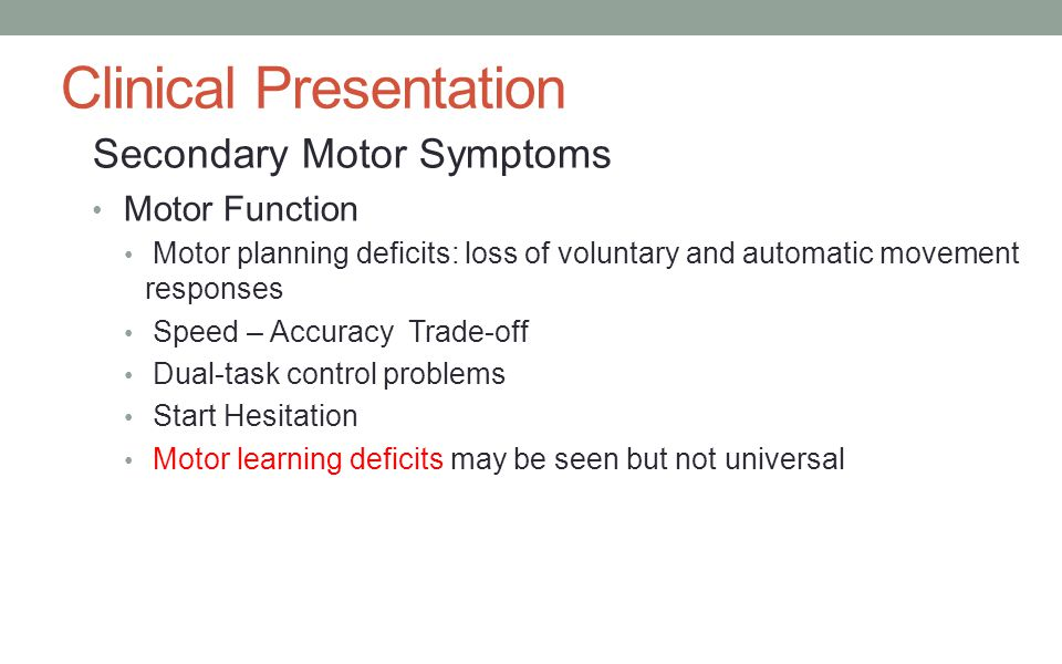 Chapter 18 physical rehabilitation prepared by pethuel m for Loss of motor control