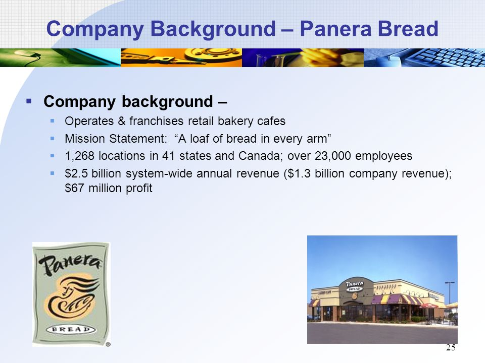 panera bread mission statement Panera bread strategic analysis  because of its narrow focus on one product the panera bread mission statement falls short in its ability to guide employees.