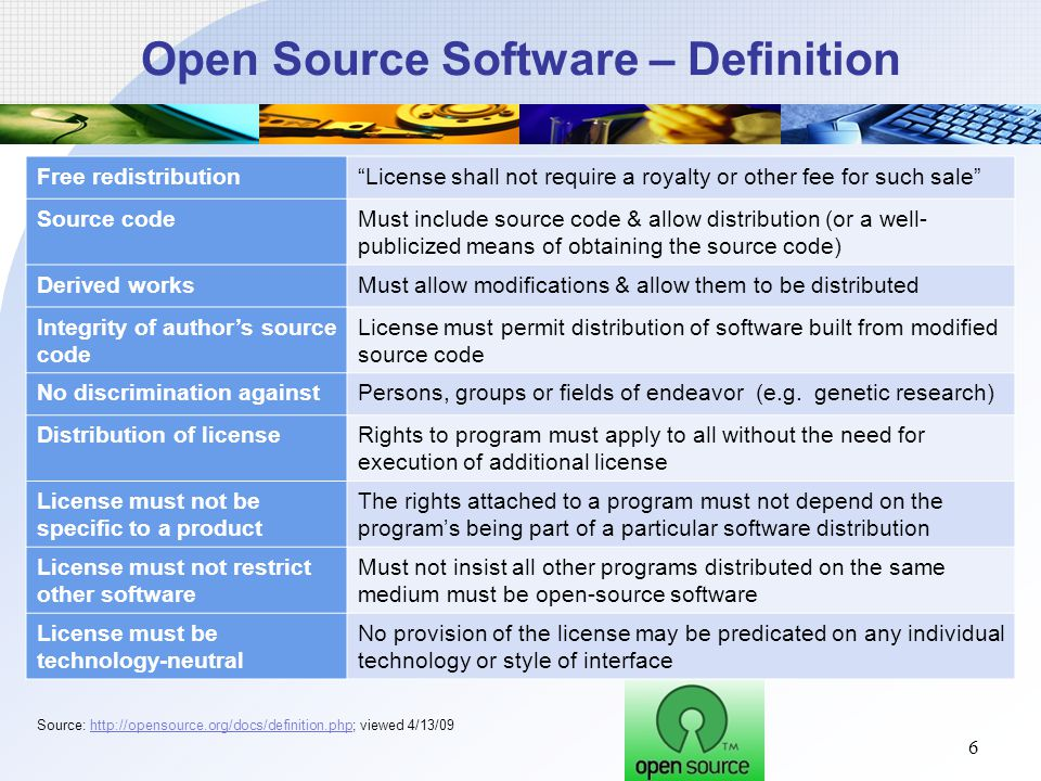 Group 7 open source software ppt download Open source programs