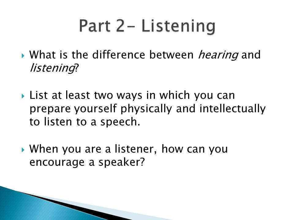 what is the difference between listening Main difference the main difference between two types of communication active listening and passive listening is that in active listening, listener pays full.