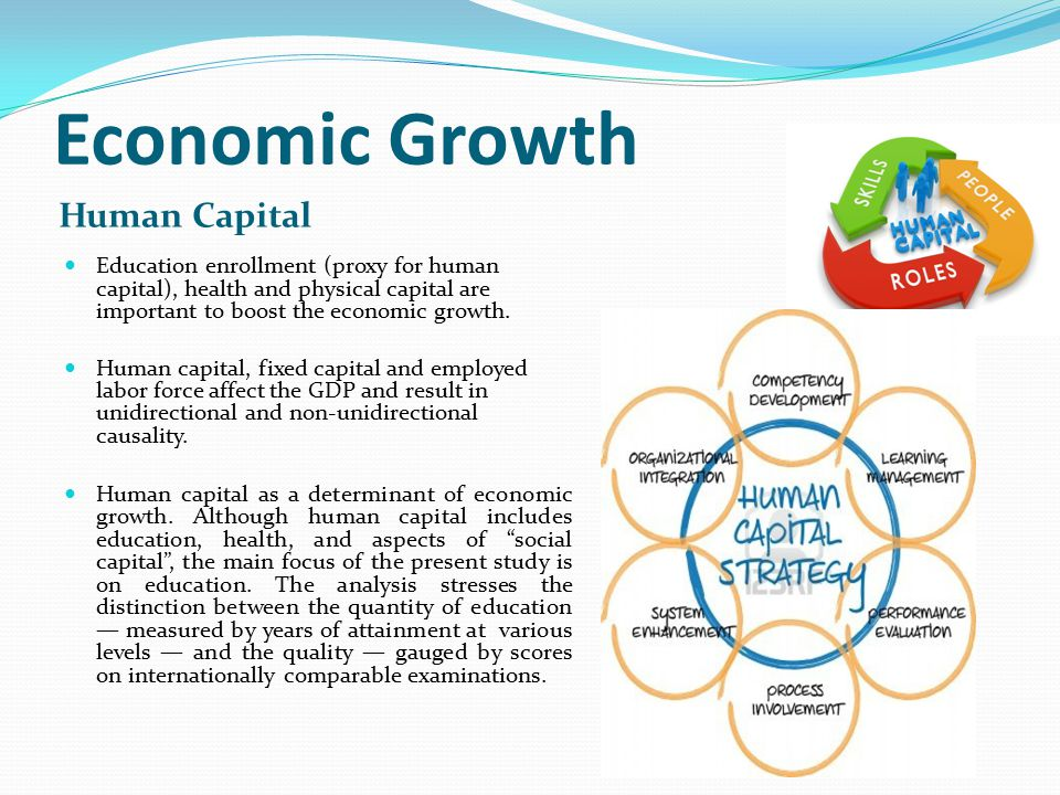 impact of human capital on economic development Economic systems economic growth  and health also contribute to the development of human capital  the large impact of.