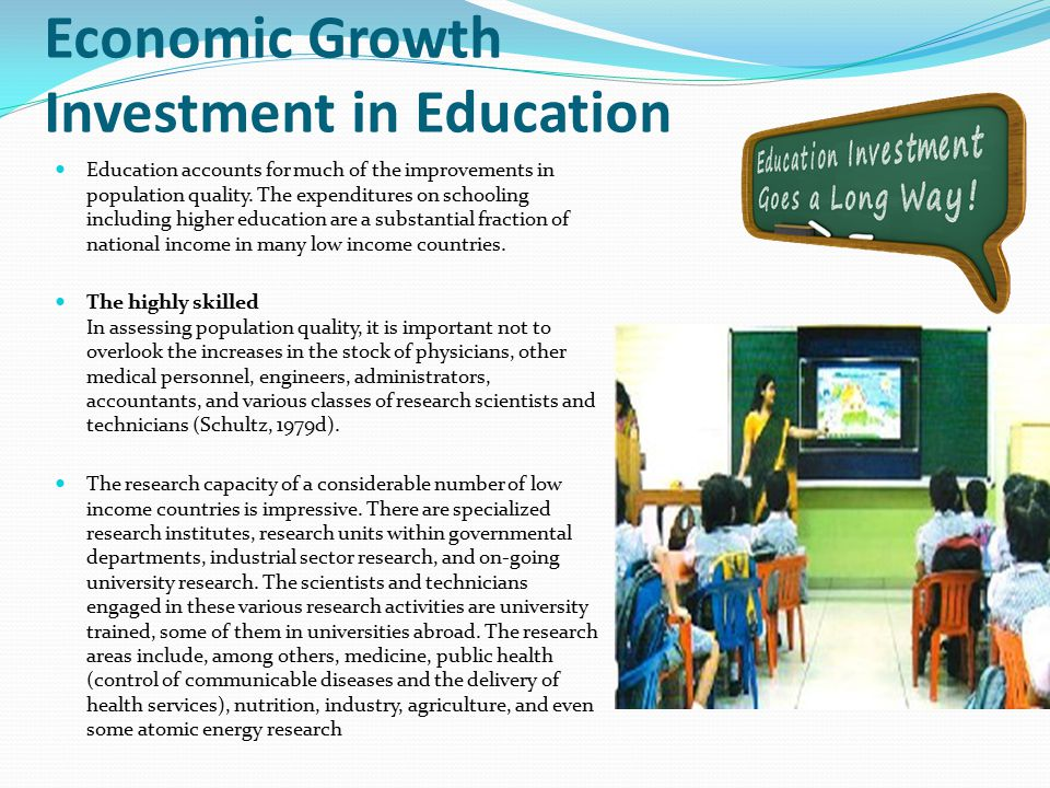 Economic Growth Investment in Education