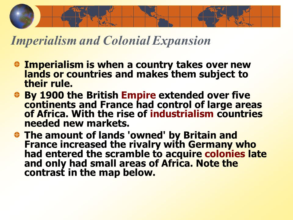 imperialism british empire and imperialist powers Senior british diplomat robert cooper has helped to shape british prime  at least among the western powers  empire and imperialism are words that have.