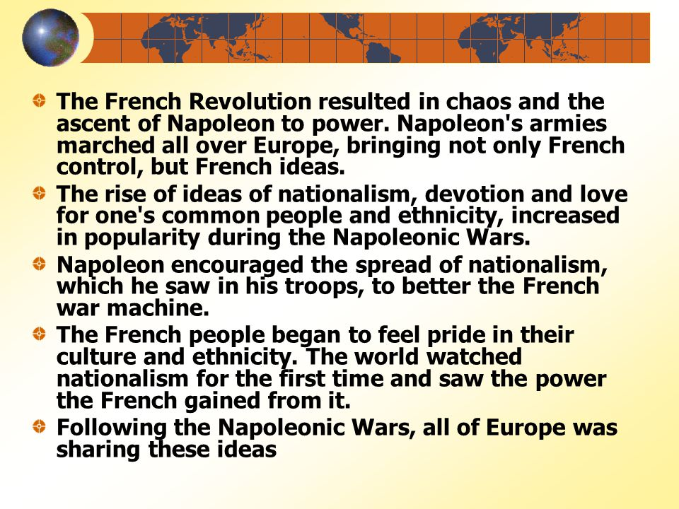 The French Revolutionary and Napoleonic Wars