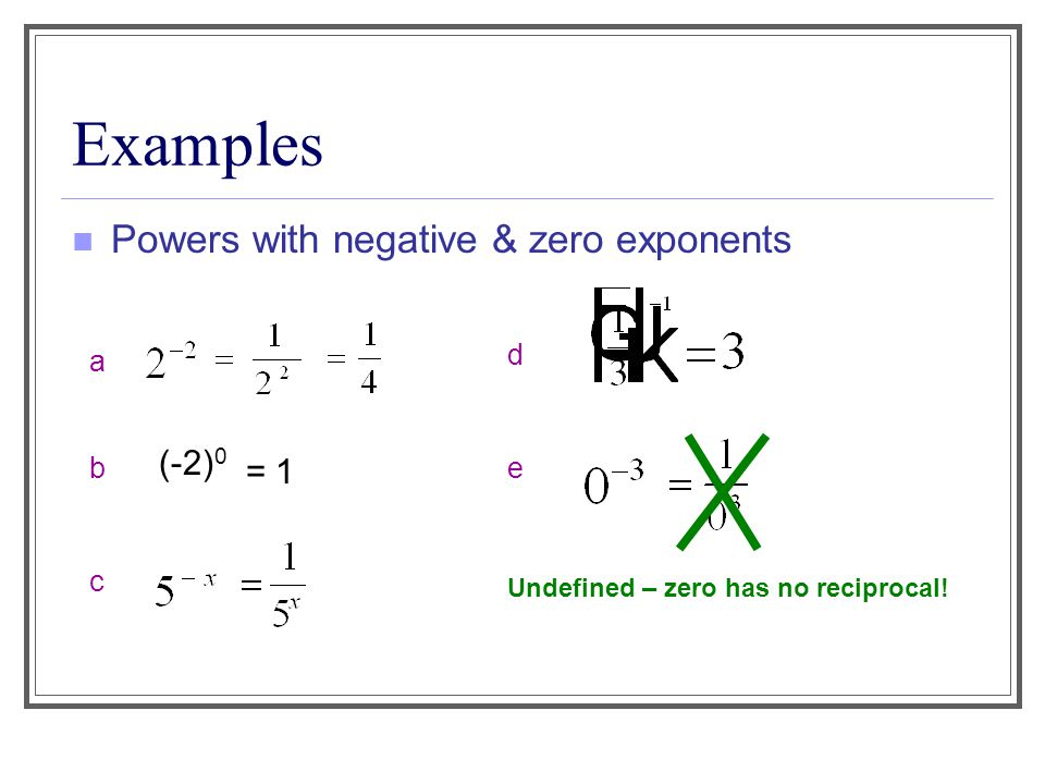 Ch 8.2 – Zero & Negative Exponents - ppt download