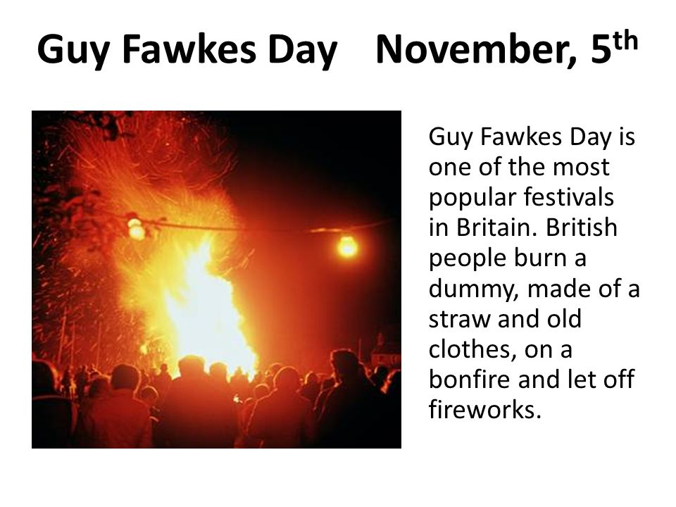 Guy Fawkes Day November, 5th