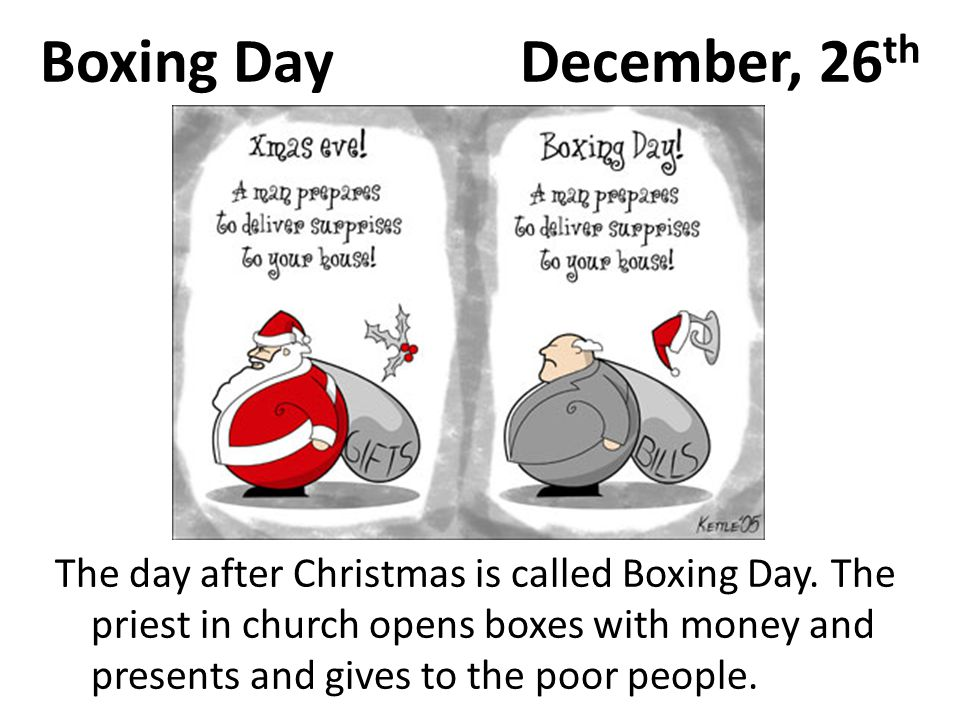 Boxing Day December, 26th