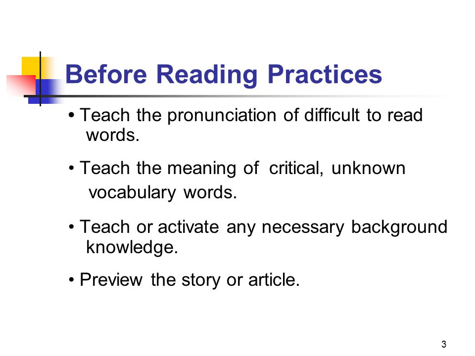 Before Reading Practices