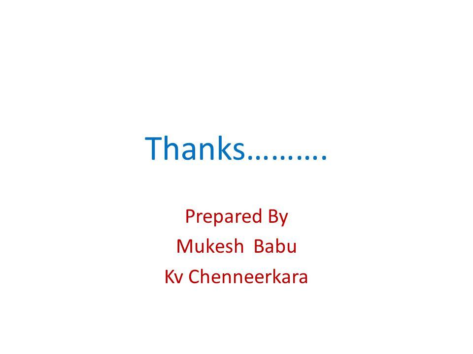 Prepared By Mukesh Babu Kv Chenneerkara