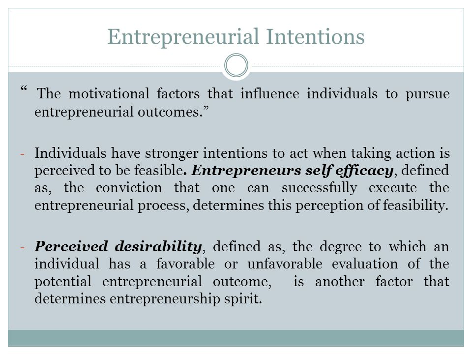 entrepreneurial intentions the influence of self efficacy commerce essay Sur la nature du commerce en général, or essay on the  may influence entrepreneurial  self-efficacy, social skills, entrepreneurial.