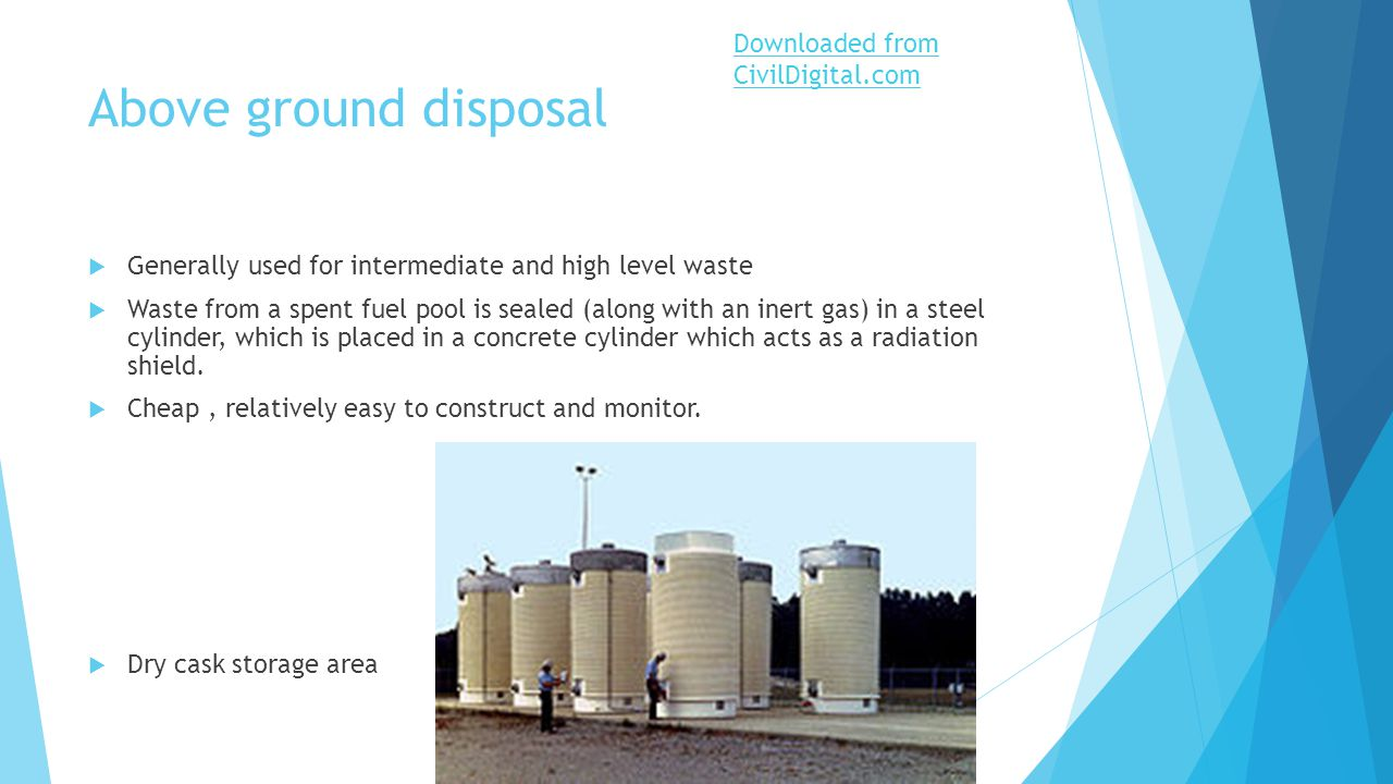 nuclear waste disposal Nuclear waste disposal: problems & solutions nuclear power is characterized by a very large amount of energy available from a very small amount of fuel.