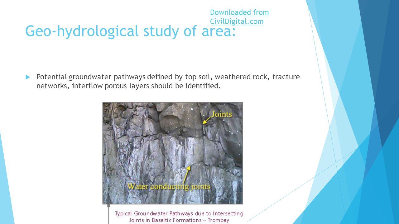 Geo hydrological study presque