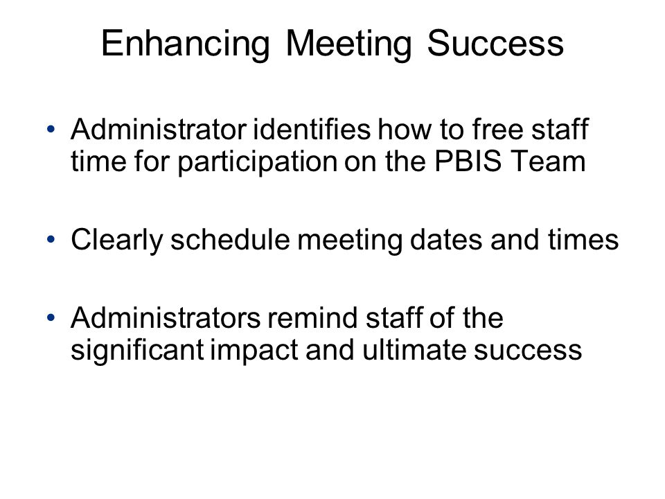 Enhancing Meeting Success