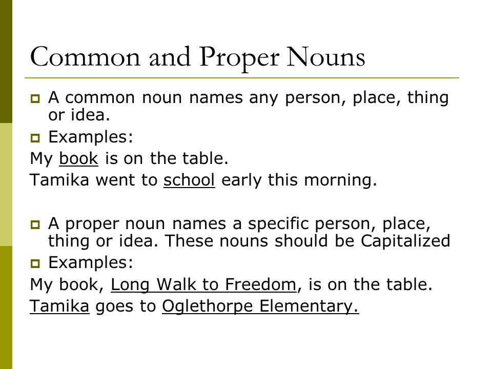 Common and Proper Nouns #1