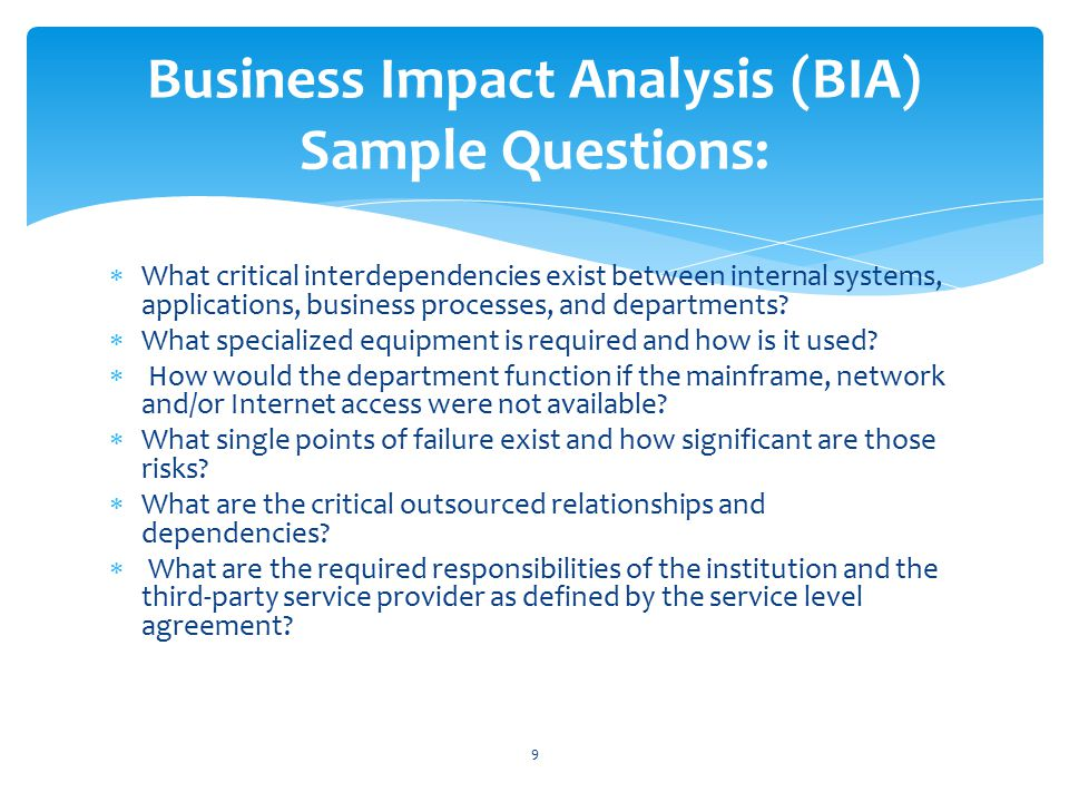 Business Analysis Samples