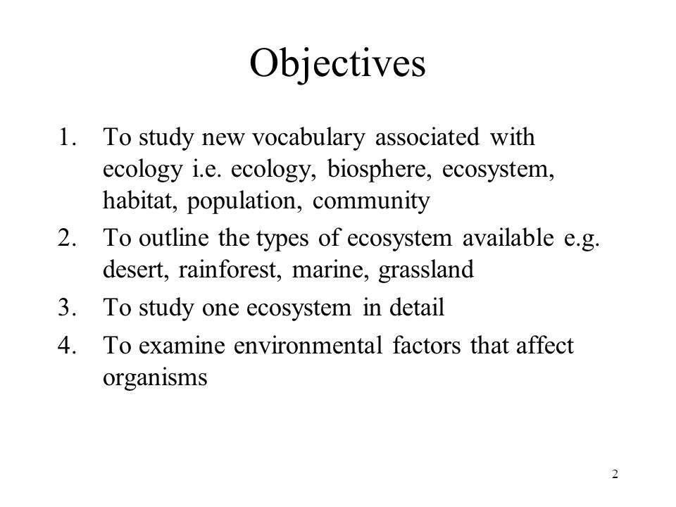 objectives ecology and primary production Ministry of education upper primary phase 2010 home ecolocy syllabus grades 5 teachers guide assists the teacher in how the aims and objectives of the syllabus can be in the upper primary phase in home ecology the following skills will be installed in learners.