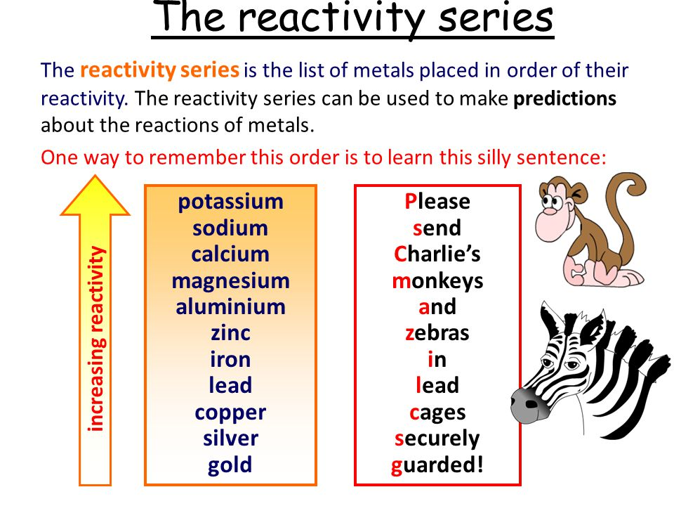 An easy way to remember electrochemical... - Science ...