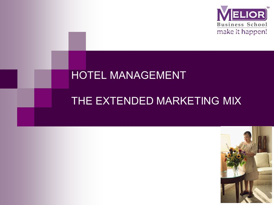 hotel and marketing mix Maarit karppinen strategic marketing 41 marketing mix marketing plan for a hotel so it is important to find out how specifically a hotel.
