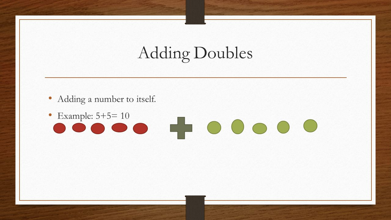 worksheet Adding Doubles doubles math facts ppt video online download 3 adding a number to itself example 55 10