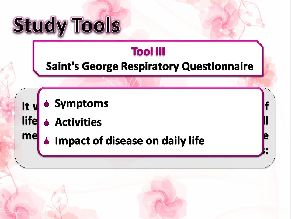 Tool III Saint s George Respiratory Questionnaire