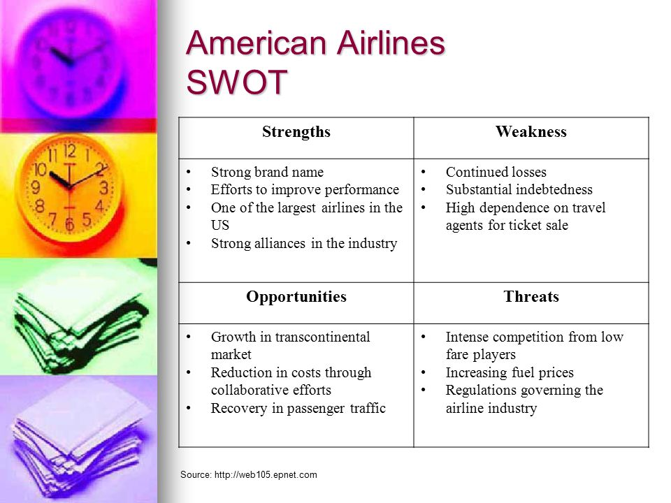 a swot analysis of american airlines tourism essay Porter's five forces analysis of the airlines industry in the united  swot analysis  porters five forces analysis of the airlines industry in the united states.