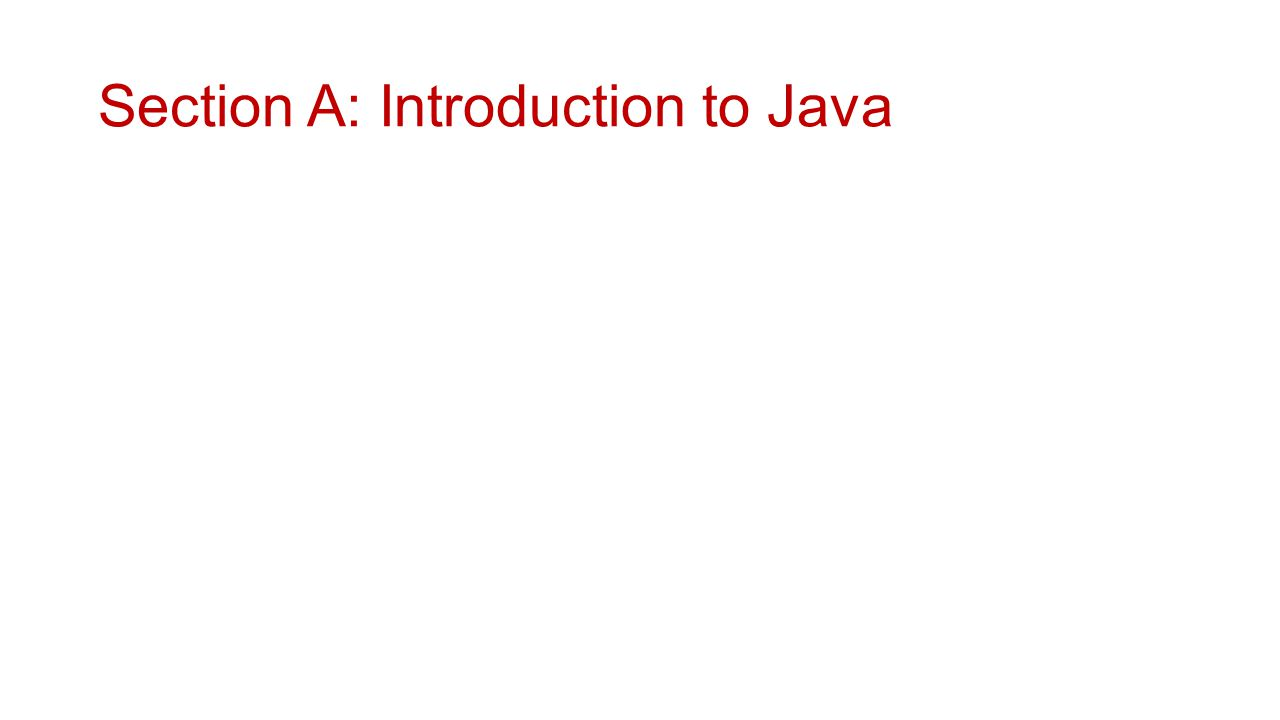 Java language basics