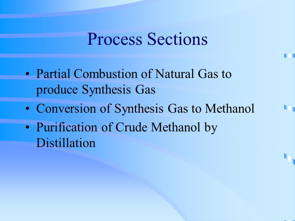 how to make methanol from natural gas