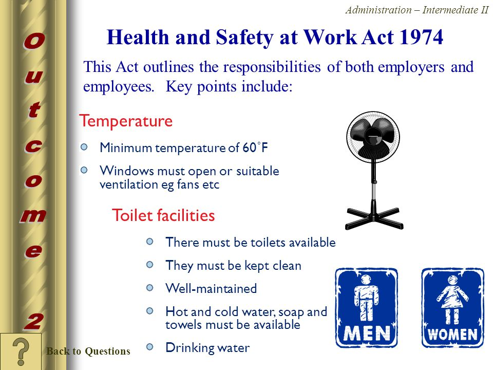 health and safety at work act 1974 essay Vtct level 2 higher diploma in hair and beauty studies unit 1 safe and healthy working practices in hair and beauty introduction hair and beauty businesses must meet and the health and safety at work act 1974 sets out the guidelines for managing health, safety and the environment in the.