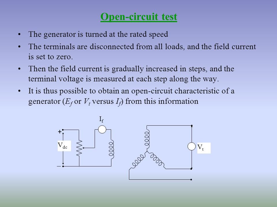 Open Closed Circuit Testers : Synchronous machines submitted by ms jaspreet kaur ppt