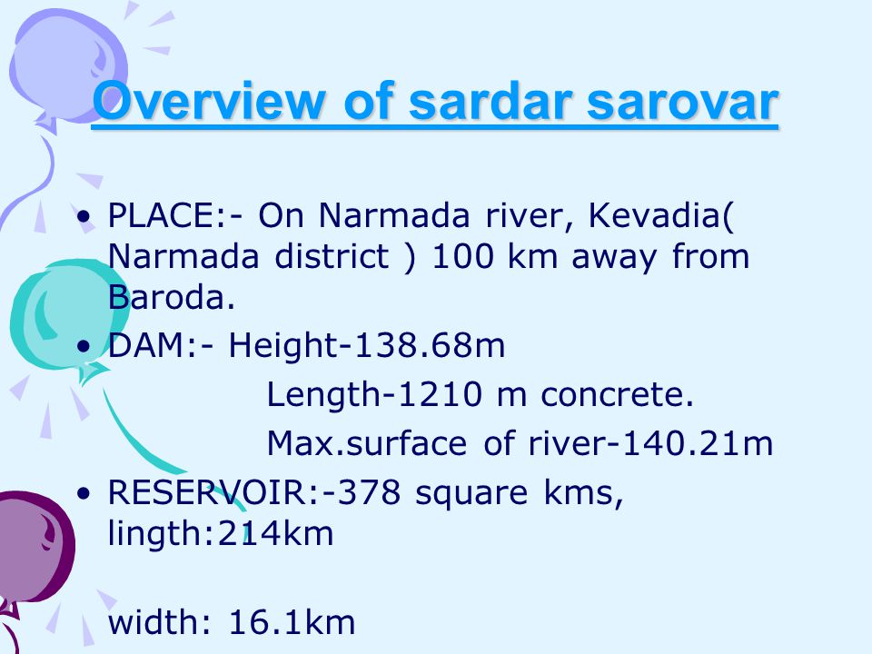 Overview of sardar sarovar