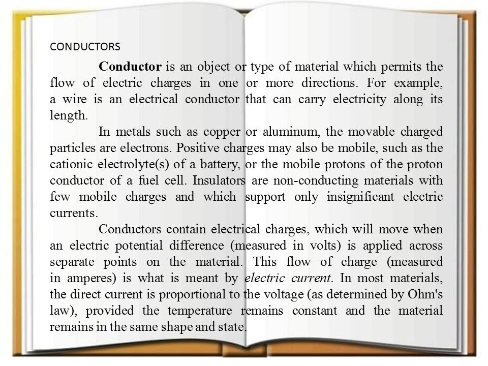 Common Conductors Of Electricity Examples : Conductors and insulators ppt video online download