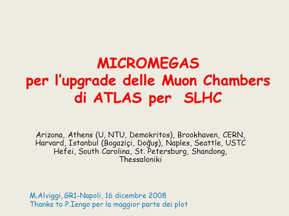 MICROMEGAS per l'upgrade delle Muon Chambers di ATLAS per SLHC
