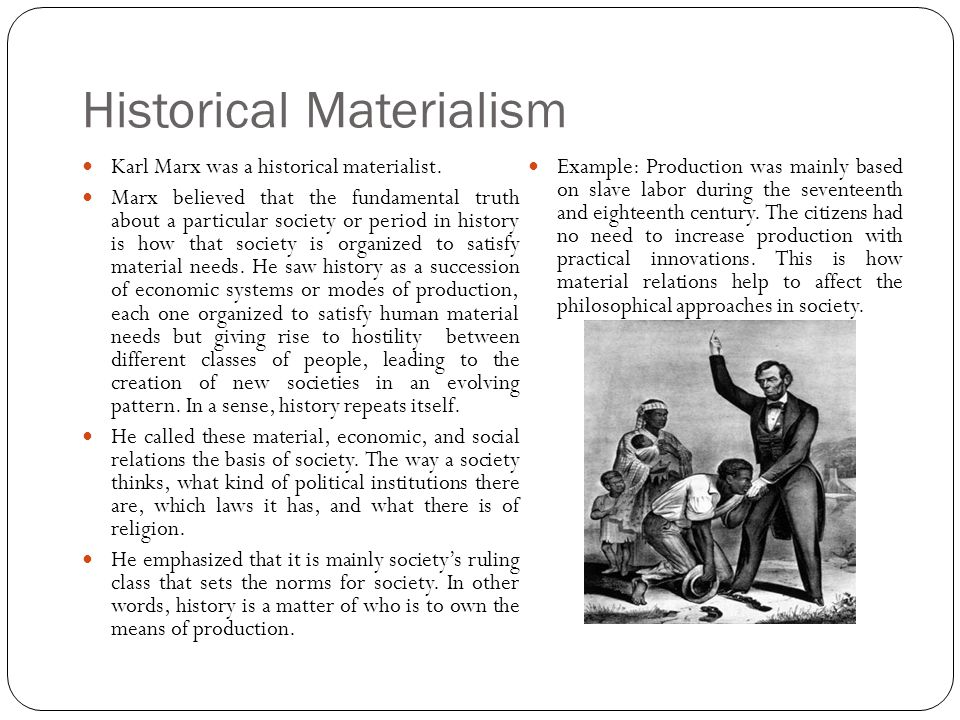 Marx historical materialism thesis