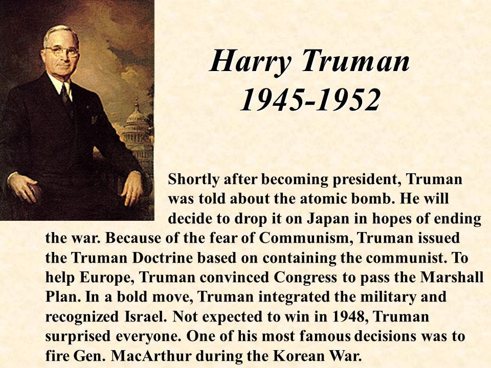 was truman justified in his decision What was the real reason why truman fired macarthur during the that chinese intervention justified a renewal of chiang except truman, he opened his.