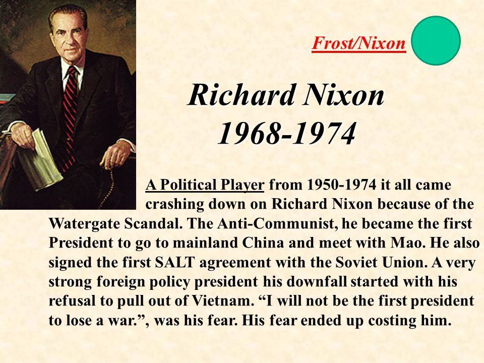 the political run of president richard nixon in 1968 Eisenhower proposed that nixon not run for news and comment entitled the political obituary of richard m nixon the graves of president richard nixon.