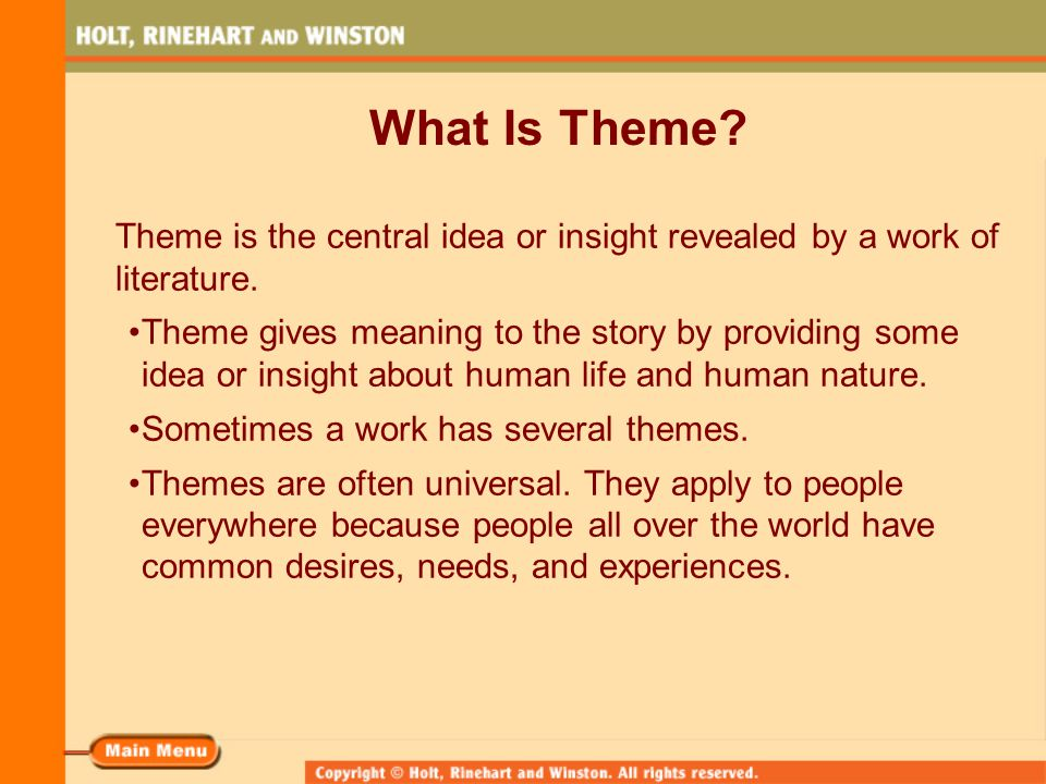 themes in literature definition