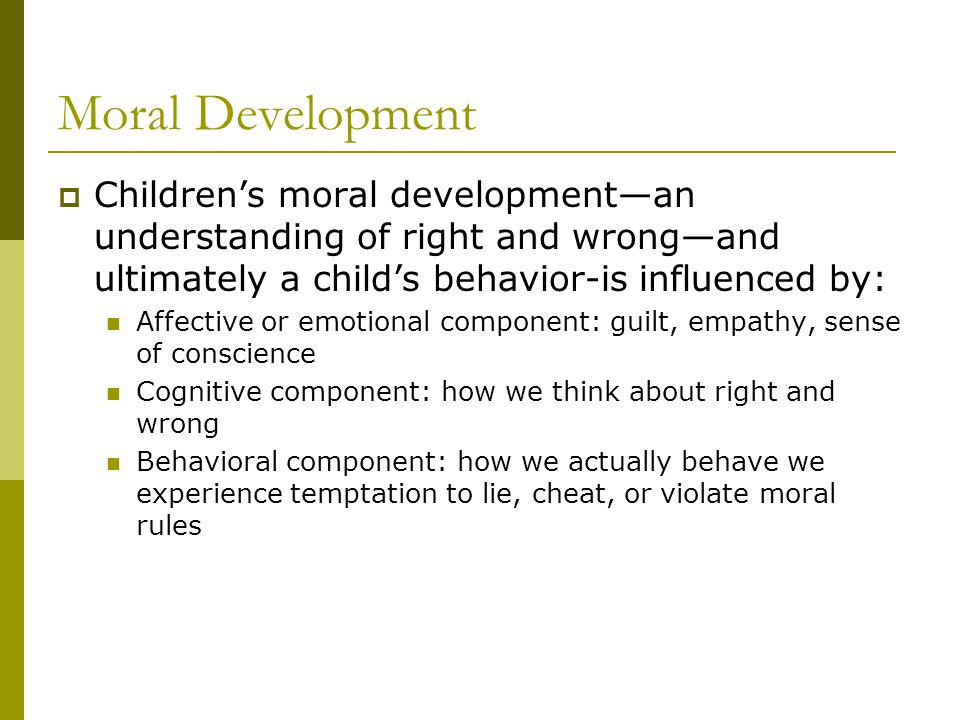 what is moral development of a child