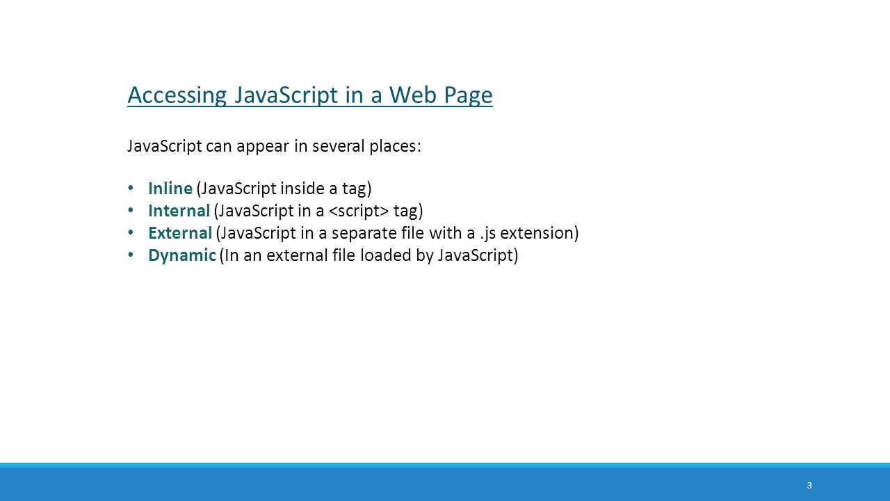 Accessing JavaScript in a Web Page