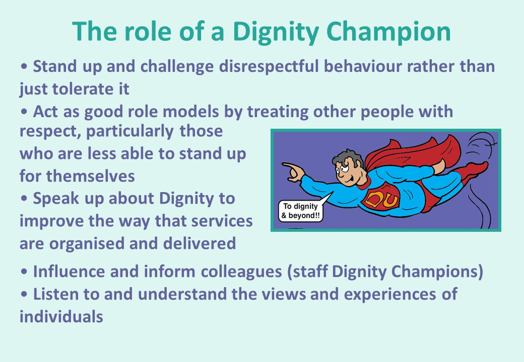 The role of a Dignity Champion
