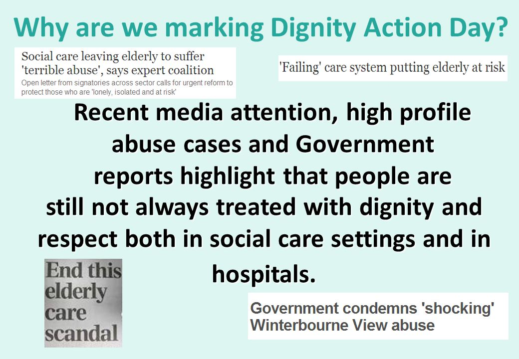 Why are we marking Dignity Action Day