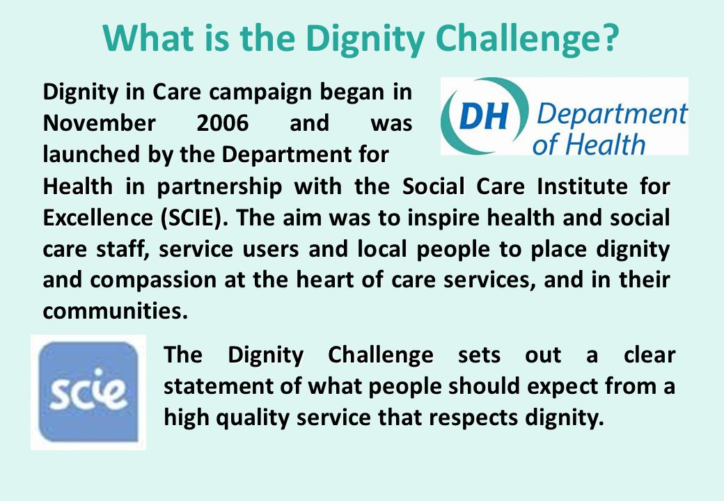What is the Dignity Challenge