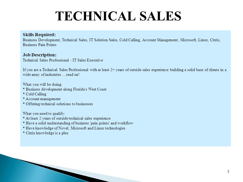 technical sales executive job description - Khafre
