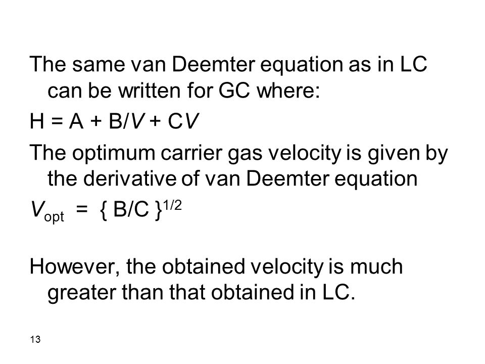van deemter equation Waters aaps 2007 seminars november 12-13,  (further to the right on van deemter curve) dp2 1  start with the simple equation for pc=1+ g.