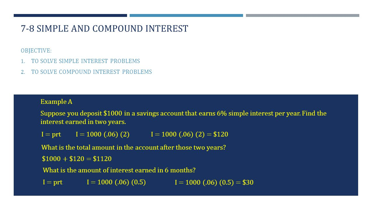78 simple and compound interest ppt video online download – I Prt Worksheet